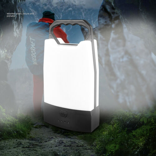 Rechargeable LED Camping Light Lantern Outdoor Tent Light Power Bank Work Torch