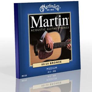 Martin 80/20 Bronze Medium Acoustic Guitar Strings - M150