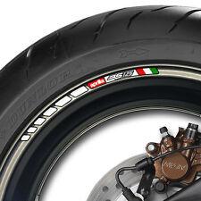 8 x APRILIA RS 125 STRIPE WHEEL RIM STICKERS DECALS- mille rsv RS125