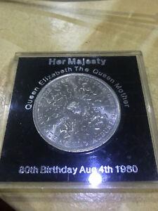 1980-Elizabeth-80th-Birthday-Crown-BRITAIN-Coin