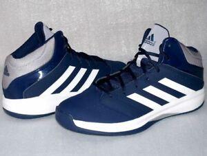 Details zu Adidas C75913 Isolation 2 Freizeit Schuhe Basketball Running Sneaker 47 Navy Wei