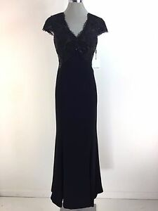 937307360f44 Calvin Klein New WT Beautiful BLACK Sequined Lace Mermaid Gown size ...