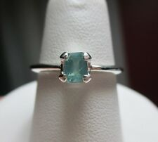 Wonderful .54ct Natural Emerald Cut Alexandrite Sterling Silver Ring