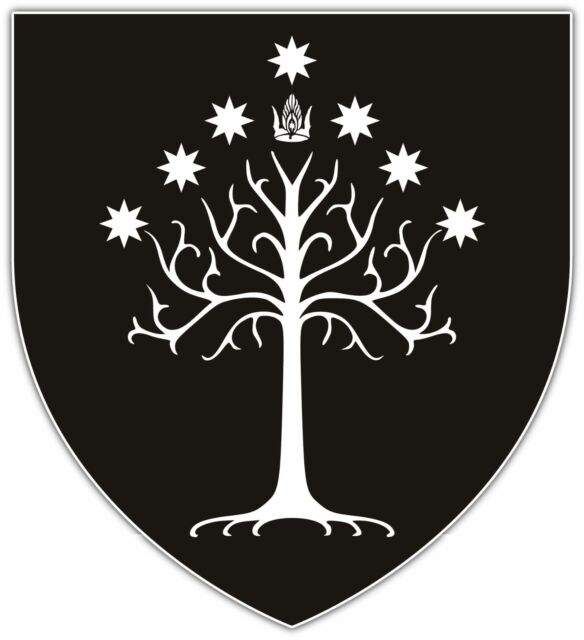 """Gondor Flag Lord of The Rings Car Bumper Window Sticker Decal 4""""X5"""""""