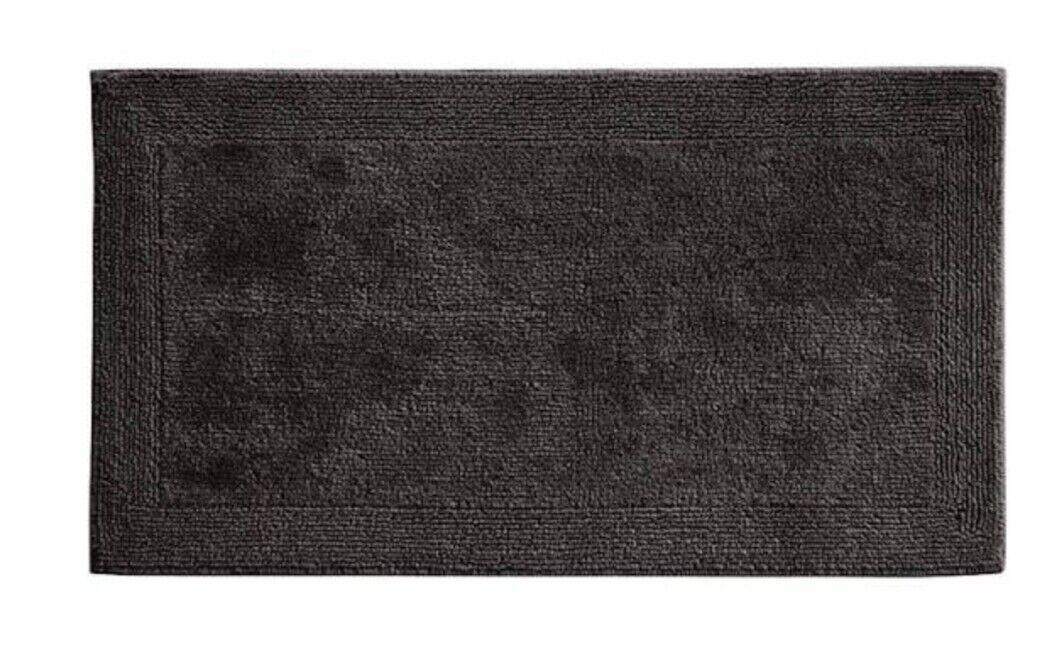 "Qty 2 Grund Puro Series 100/% Organic Cotton Reversible Bath Rug 21/"" X 34/"" New"