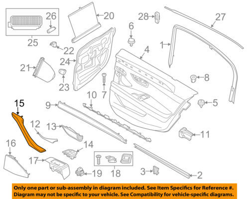 BMW OEM 11-16 550i xDrive Interior-Rear Door-Pull Handle Left 51417225853