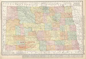 1908-NORTH-DAKOTA-Railroads-Map