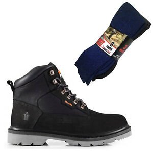 Safety Twister Of Boots Boot Hiker Pairs Mad4tools 3 Black Socks Work Scruff 5pAT4xn5
