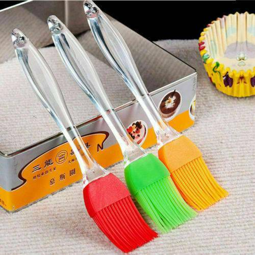 5Pcs Basting Brush Silicone Baking Bakeware Bread Cook Pastry Oil Cream BBQ New