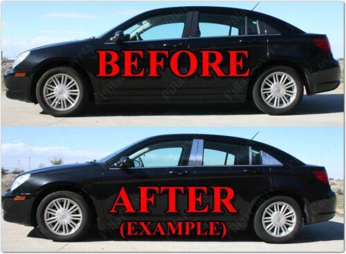 Chrome Pillar Posts for Hyundai Elantra 01-06 4dr 6pc Set Door Trim Cover Kit