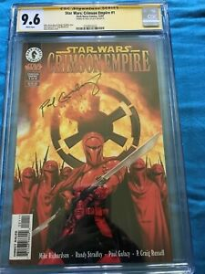 Star-Wars-Crimson-Empire-1-Dark-Horse-CGC-9-6-SS-NM-Signed-by-Paul-Gulacy
