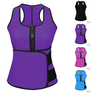 ab5a118a5f Image is loading Lady-Sauna-Waist-Trainer-Vest-Adjustable-Slimming-Sweat-