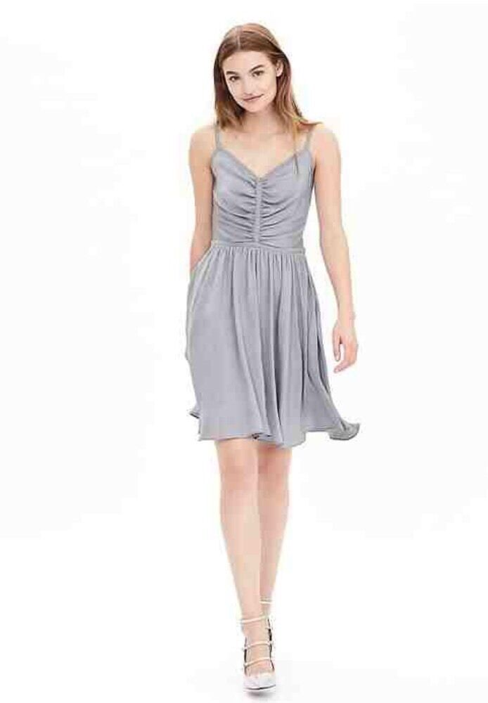 Banana Republic bluee Shirred Dress Size 14 NWT Retail  138