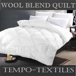 Deluxe 500gsm Wool Blend Ultra Plush Quilt Doona Duvet Single/double/queen/king High Quality And Inexpensive Bedding