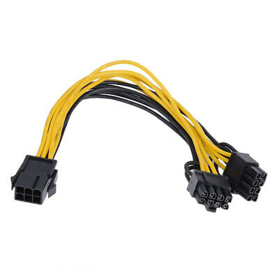 6pin to 8pin pcie GPU Video Card Cable Asus G20 ROG Power Supply 30cm Shakmods