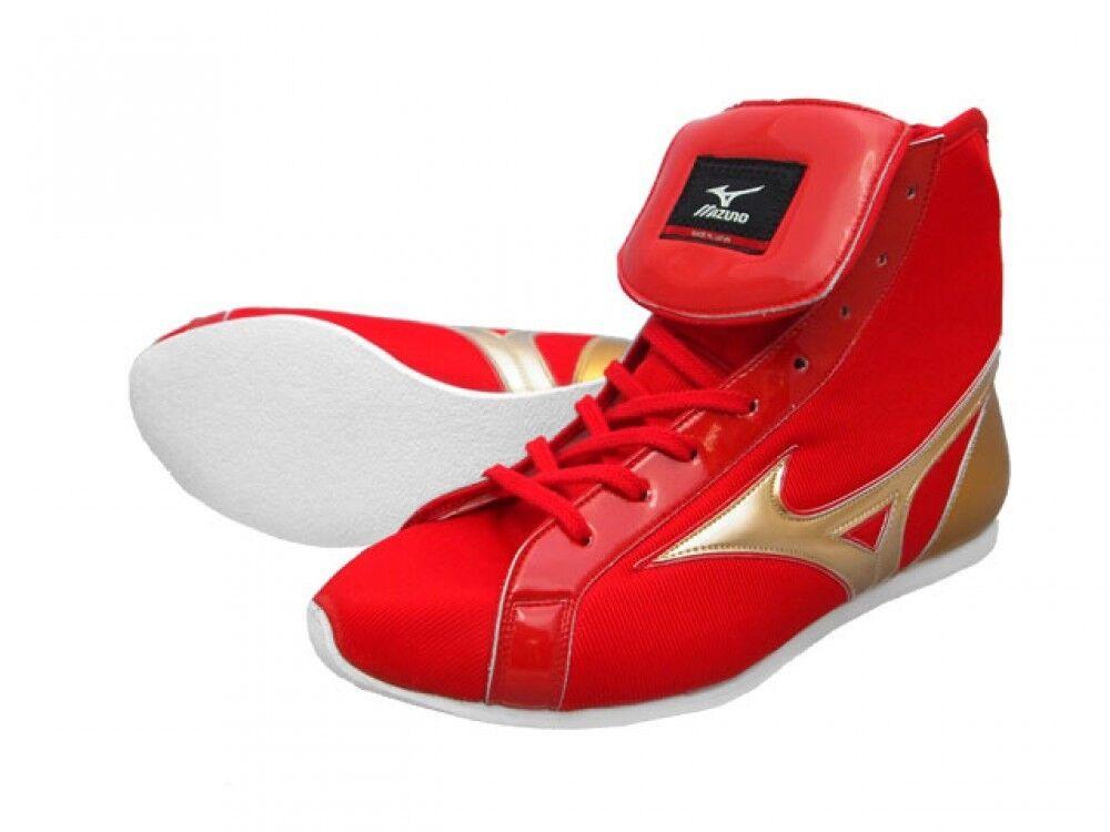 Mizuno Japan Boxing shoes 21GX151000 EF-S Short Type Red x gold