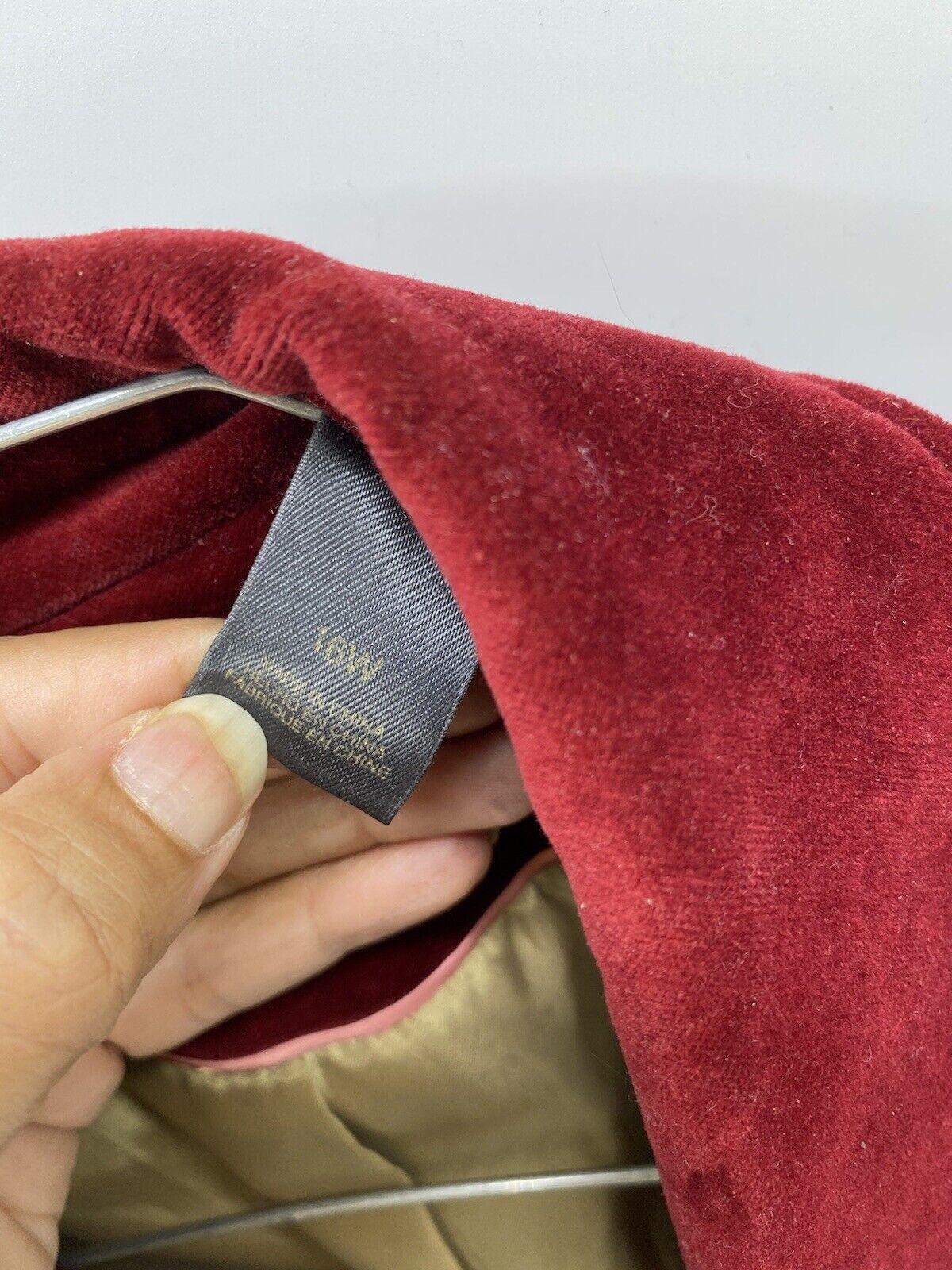 Liz Claiborne Red suede lined jacket/blazer Mediu… - image 5