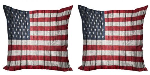 USA 2 Teiliges Kissenbezugs Set 4 Juli Unabhängigkeit