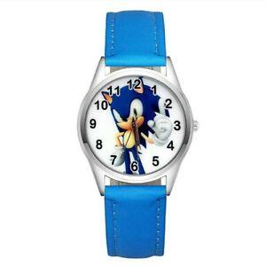 Montre à quartz NEUVE Bracelet Cuir ( Watch ) - Sonic the Hedgehog ( Ref 4 )