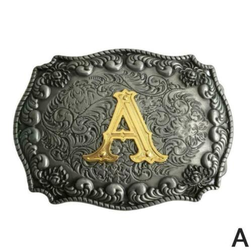 Vintage Men Initial Letters Rodeo Western 26 Style Belt Buckle Choose To Co J3F7