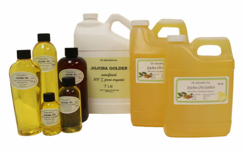 Premium Pure Organic Cold Pressed Jojoba Golden Unrefined Oil 2 oz up to 7 LB