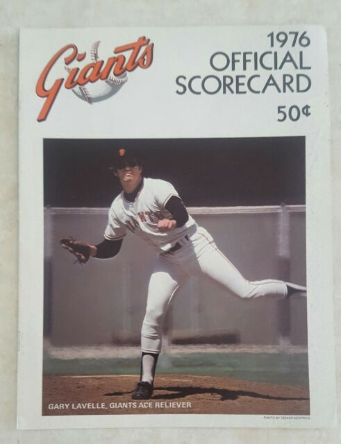 1976 SAN FRANCISCO GIANTS SCOREBOOK PROGRAM vs ATLANTA BRAVES  UNSCORED