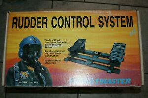 THRUSTMASTER-RUDDER-CONTROL-SYSTEM-Foot-Controls-Flight-Sim-PC-Gaming-w-box