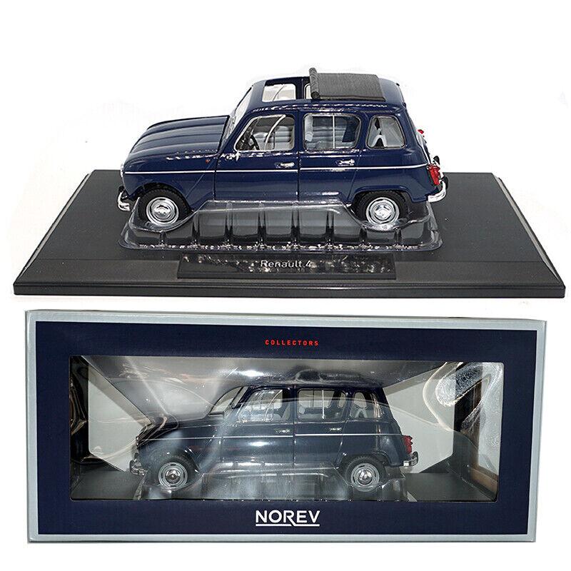 Klassisk 1  18 Norev tärningskast Metal UV1 Renault 4 1965 Cöppnahague blå bil modellllerlerl