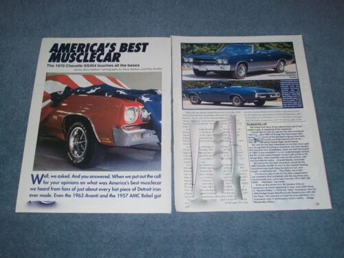 "1970 Chevelle SS454 LS6 Info Article ""America's Best Muscle Car"" Super Sport 454"