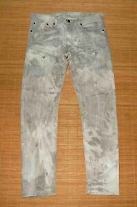 jean homme LEVI'S 508 slim gris delavé effets usé taille 32/32 us ou 42 fr