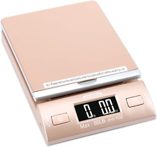 Digital Shipping Postal Scale With Batteries And Ac Adapter Gold 86lbs New