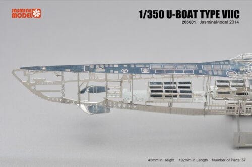 Jasmine Model 1//350 205001 German U-boat Type VIIC Submarine Skeleton