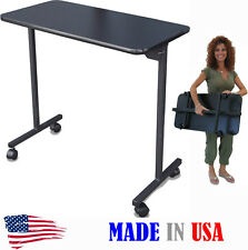 PORTABLE MANICURE NAIL TABLE 310E BLACK TOP FOLDING LEGS BY DINA MERI USA MADE