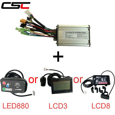 Electric Speed Brushed Controller Motor For Bike Bicycle Scooter 24//36V 350//500W