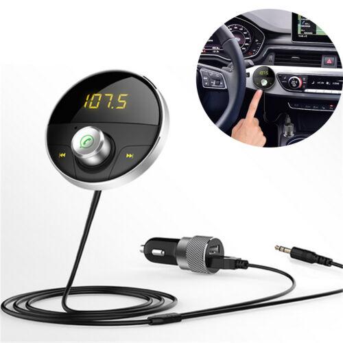 Bluetooth AUX Handsfree Car Kit 3.5mm Jack Audio MP3 Player Wireless Transmitter