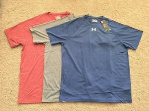 NEW MENS UNDER ARMOUR HEAT GEAR S//S LOOSE FIT STRIPED T-SHIRT PICK SIZE /& COLOR