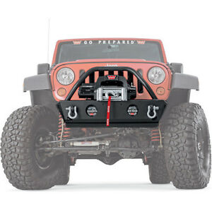 Warn Rock Crawler Stubby Front Bumper with Grille Guard 07-14 Jeep