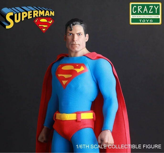 Crazy Toys 1 6 Classic Superman With Clothes Figure New