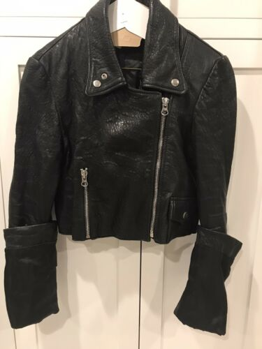 MM6 Martin Margiela Woman's Leather Motorcycle Jac