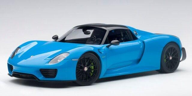presentando toda la última moda de la calle 77924 Autoart 1 1 1 18 Porsche 918 Spyder paquete byzac (Azul Claro)  Precio al por mayor y calidad confiable.