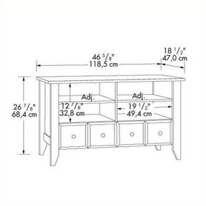 Sauder 409795 Shoal Creek Jamocha Wood Panel Tv Stand Ebay