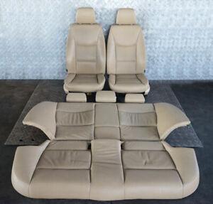 BMW-3-Serie-E90-pelle-Beige-Sedili-Interni-con-Airbag-E-Porta-Carte