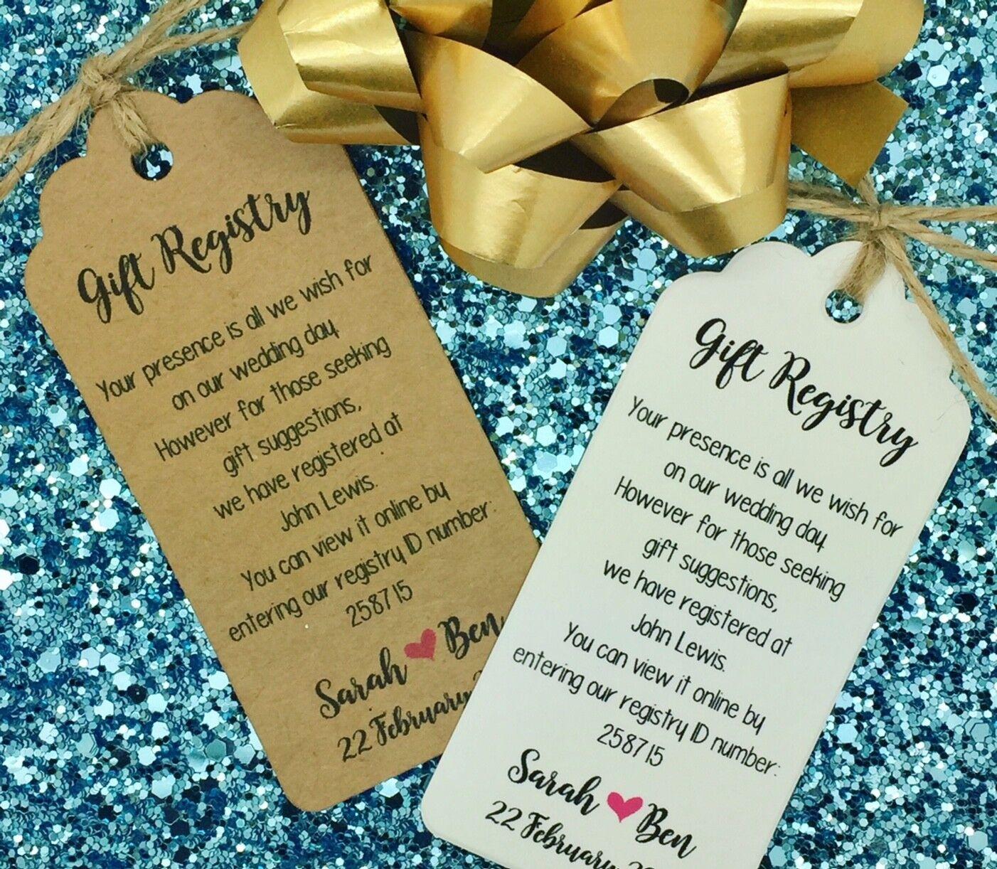 Wedding Gift Registry, Wishing well Card, Money Request Poem Card