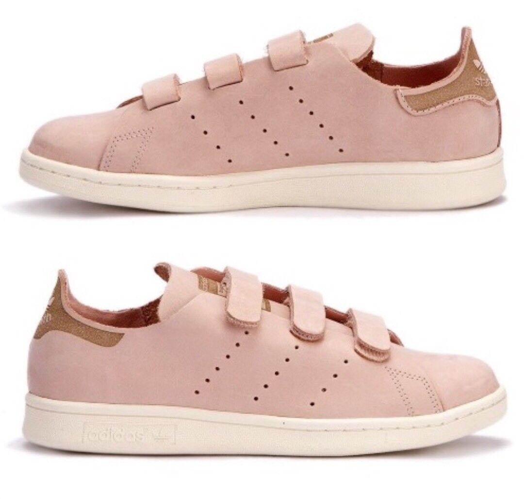 NEW Adidas Originals' Pink Stan Smith Comfort Suede Sneakers Size 8 9