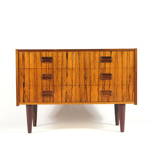 Retro-Vintage-Danish-Rosewood-Chest-of-Drawers-60s-70s-Mid-Century-Wide-TV-Stand