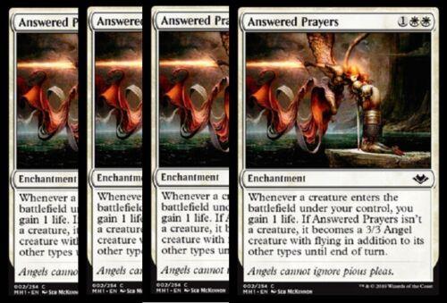 SHIPS 6//14-4x  Answered Prayers NM Modern Horizons MTG White Common