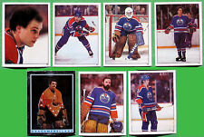 (29) EDMONTON OILERS 1982 TOPPS STICKERS - NM/MT - (4) FUHR (RC), LOWE, LUMLEY