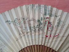 ANTICO VENTAGLIO ACCESSORI DONNA DECORATO ANTIQUE OLD FAN OGGETTO DEPOCA VINTAGE
