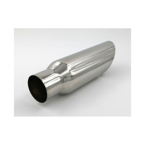 """12/"""" Long Stainless Steel Angle Cut 45° Exhaust Tip Inlet 2.5/"""" Outlet 3.5/"""""""