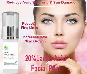 20-Professional-Grade-Lactic-Acid-Facial-Peel-Wrinkles-Acne-Age-Sun-Spots-30-ml